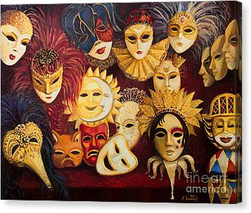 Venetian Masks Canvas Print by Kiril Stanchev