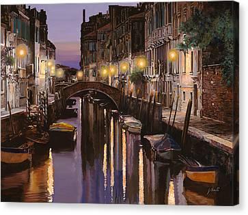 Venezia Al Crepuscolo Canvas Print by Guido Borelli