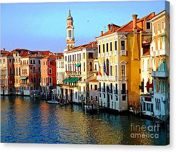 Venezia Grand Canal Canvas Print by Phillip Allen