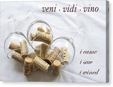 Veni Vidi Vino Canvas Print by Georgia Fowler