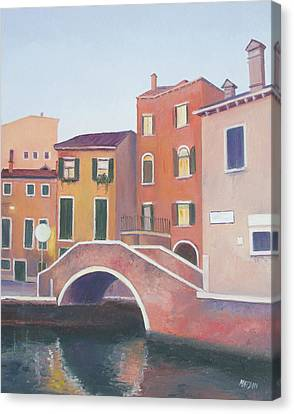 Venice Architecture Early Morning Canvas Print by Jan Matson