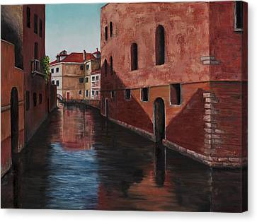 Venice Canal Canvas Print by Darice Machel McGuire