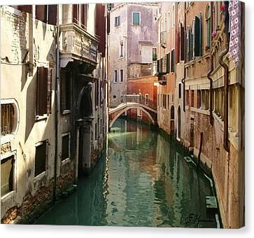 Venice Canal Canvas Print by Ellen Henneke