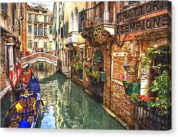 Venice Canal Serenity Canvas Print by Gianfranco Weiss