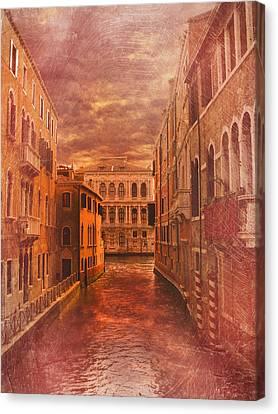 Venice Canal Canvas Print by Toma Bonciu