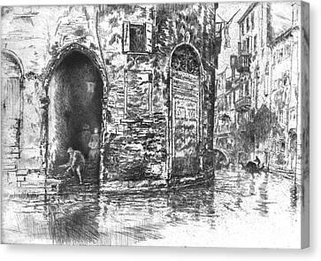 Venice Doorways 1880 Canvas Print by Padre Art