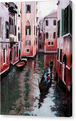 Venice Gondola Ride Canvas Print by Janet King