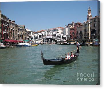 Venice Gondolier Canvas Print by John Malone
