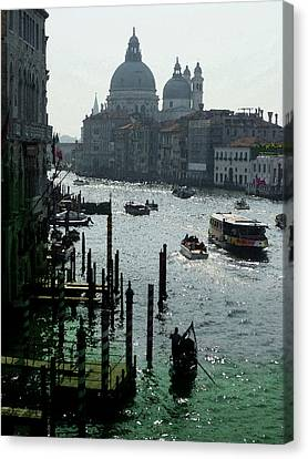 Venice Grand Canale Italy Summer Canvas Print by Irina Sztukowski