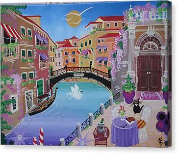 Venice, Italy, 2010-12 Acrylic On Canvas Canvas Print by Herbert Hofer