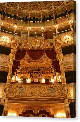 Venice Opera House - Palco Reale Canvas Print by Roxanne Janson