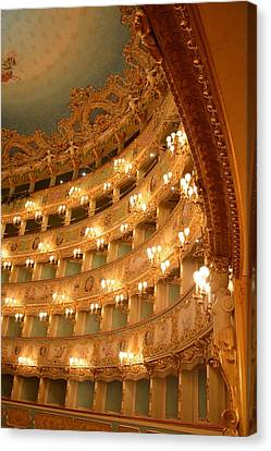 Venice Opera House - Curvaceous Canvas Print by Roxanne Janson
