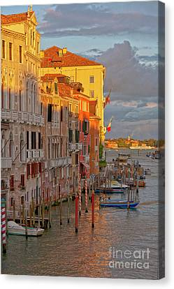 Venice Romantic Evening Canvas Print by Heiko Koehrer-Wagner