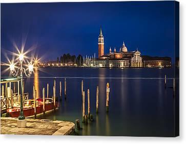 Venice San Giorgio Maggiore At Blue Hour Canvas Print by Melanie Viola