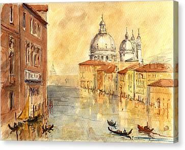 Venice Sunset Canvas Print by Juan  Bosco