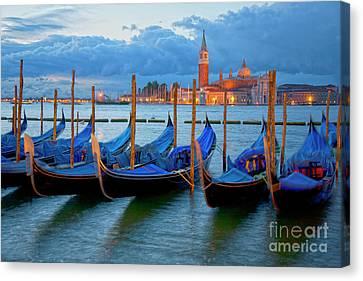 Venice View To San Giorgio Maggiore Canvas Print by Heiko Koehrer-Wagner