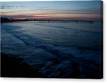 Ventura Pier Sunrise Canvas Print by John Daly