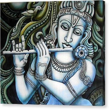 Venugopala Canvas Print by Vishwajyoti Mohrhoff