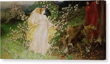 Venus And Anchises Canvas Print by Sir William Blake Richomond