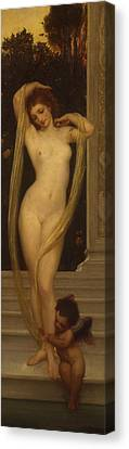 Venus And Cupid Canvas Print by Frederic Leighton