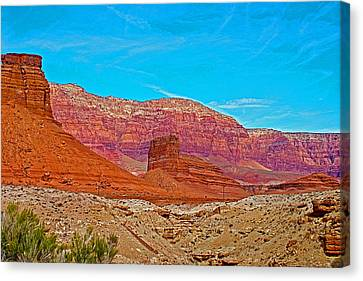 Vermilion Cliffs Above The Colorado River Near Navajo Bridge And Lee's Ferry-arizona Canvas Print by Ruth Hager