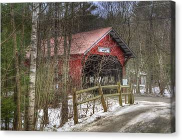 Vermont Covered Bridge - Stowe Vermont Canvas Print by Joann Vitali