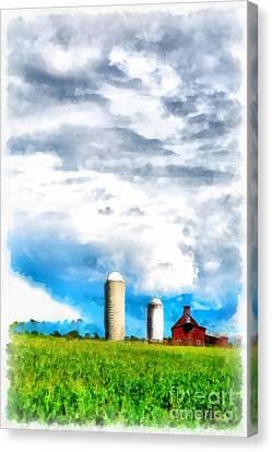 Vermont Farm Scape Canvas Print by Edward Fielding