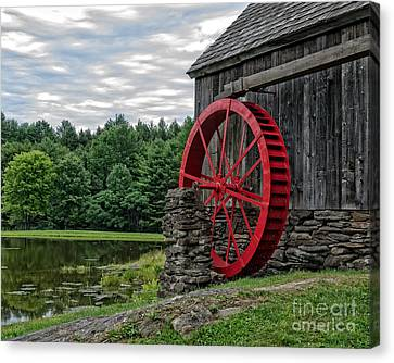 Vermont Grist Mill Canvas Print by Edward Fielding