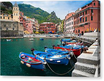 Vernazza Harbor Canvas Print by Inge Johnsson