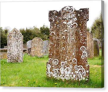 Very Old Headstone Canvas Print by Jim Hughes