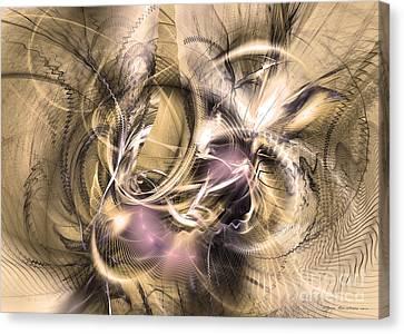 Vestigium Aeternum - Abstract Art  Canvas Print by Sipo Liimatainen