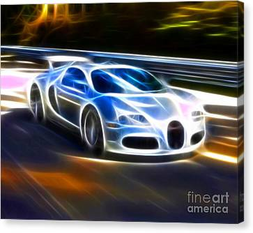 Veyron - Bugatti Canvas Print by Pamela Johnson