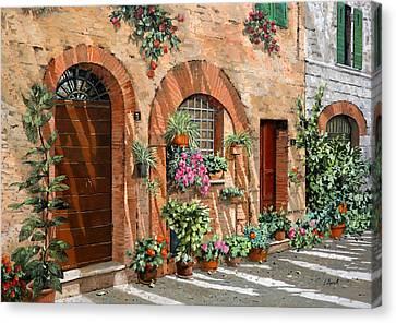 Viaggio In Toscana Canvas Print by Guido Borelli
