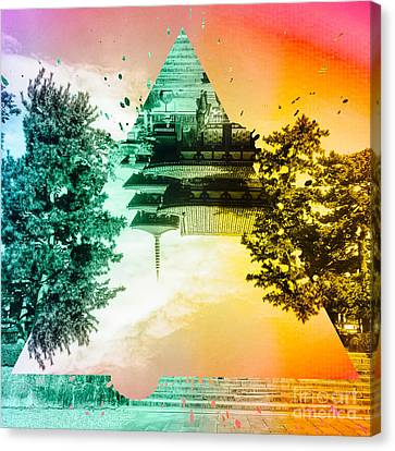 Vibrant Ancient Temple And Pagoda Canvas Print by Beverly Claire Kaiya