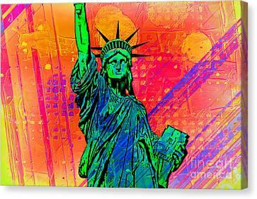 Vibrant Liberty Canvas Print by Az Jackson