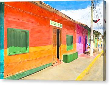 Vibrant Tropical Colors Of Nicaragua Canvas Print by Mark E Tisdale
