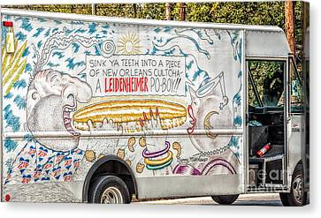 Vic And Nat'ly And The Leidenheimer Po-boy Truck - New Orleans Canvas Print by Kathleen K Parker