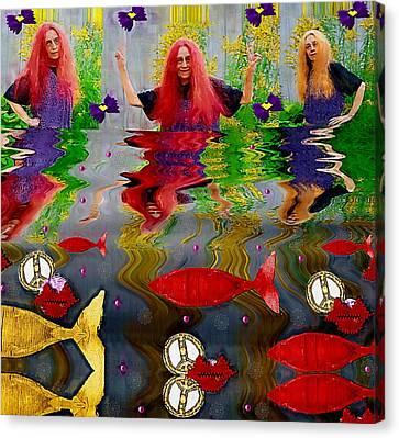 Vice Versa Pop Art Canvas Print by Pepita Selles