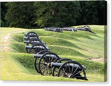 Vicksburg Mississippi Usa Civil War Entrenchments Known As The Battery De Golyer Canvas Print by David Lyons
