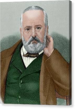 Victor Hugo (1802-1885 Canvas Print by Prisma Archivo