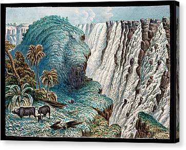 Victoria Falls Buffalo Canvas Print by Gustoimages/science Photo Libbrary