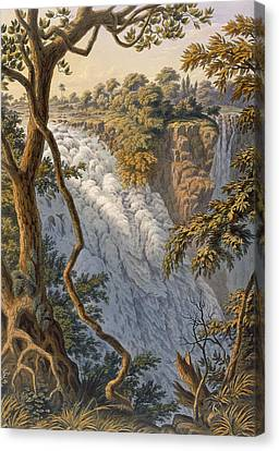 Victoria Falls The Leaping Water Canvas Print by Thomas Baines