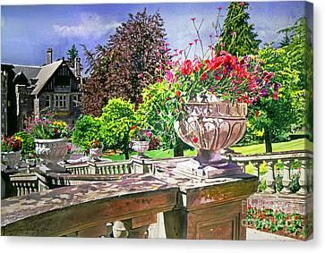 Victoria - Hatley Castle Canvas Print by David Lloyd Glover