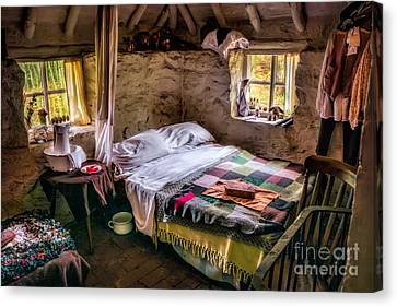 Victorian Bedroom Canvas Print by Adrian Evans