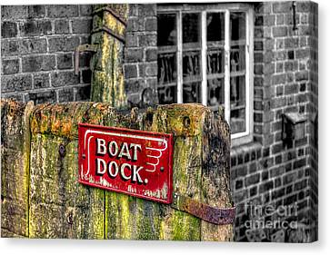 Victorian Boat Dock Sign Canvas Print by Adrian Evans