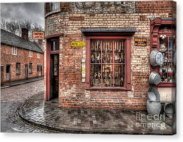 Victorian Corner Shop Canvas Print by Adrian Evans