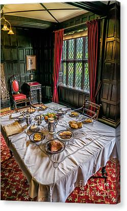 Victorian Dining Canvas Print by Adrian Evans