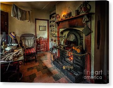 Victorian Fire Place Canvas Print by Adrian Evans