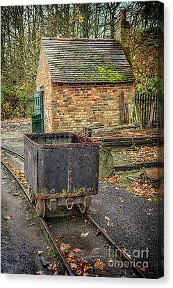 Victorian Mining Cart Canvas Print by Adrian Evans