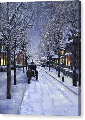 Victorian Snow Canvas Print by Alecia Underhill